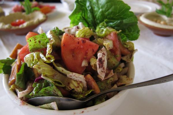Fattoush. Photo courtesy Jodi Ettenberg.