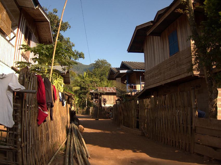 Houses in Muang Ngoi Neua.