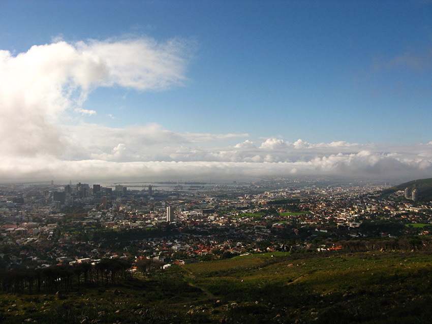 Table Mountain provides an incredible view of the city below.