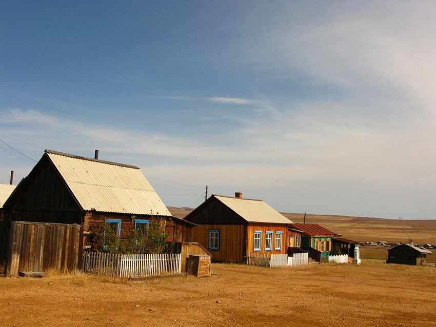 A small village on the way to Ulan-Ude, Siberia.