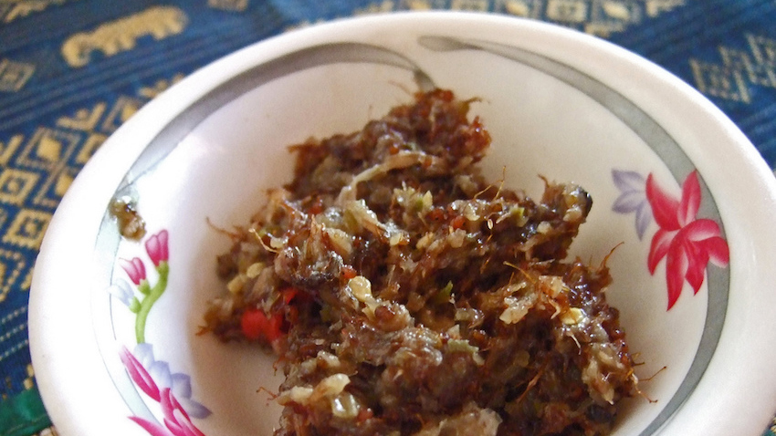 This is Prahok, a fermented fish paste and common flavour. Photo courtesy Kirk K.