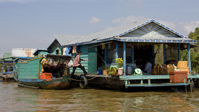 Life on the floating village of Tonle Sap. Photo courtesy Anne R.