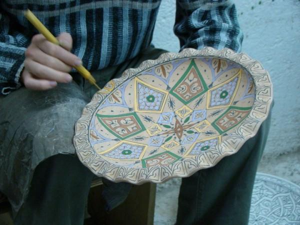 Hand painted pottery. Photo courtesy Kathy Meresz.