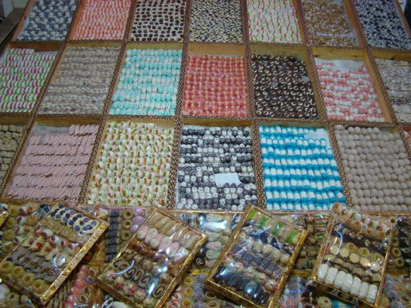 Colourful Moroccan sweets.  Photo courtesy Kathy Meresz.