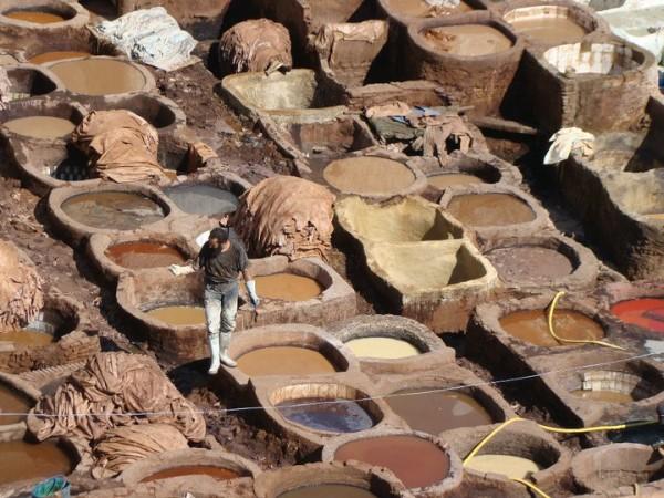 Leather tannery in Fez. Photo courtesy Kathy Meresz.