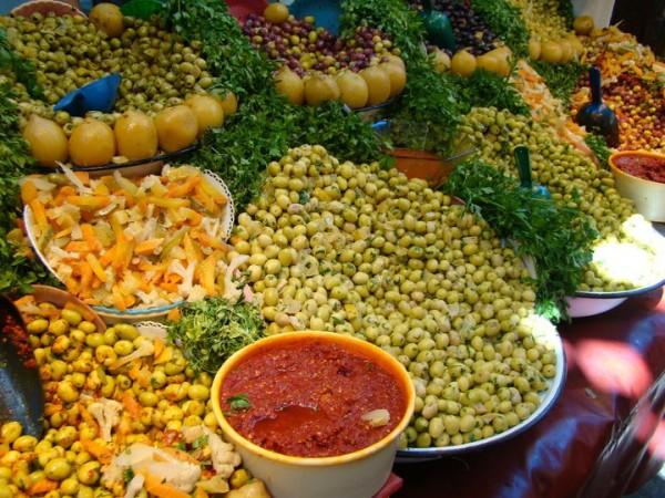 Endless varieties of olives. Photo courtesy Kathy Meresz.