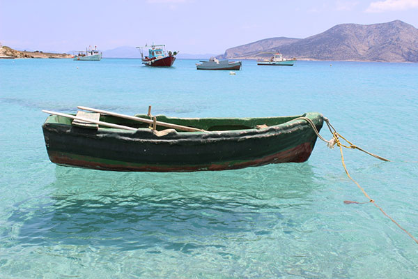 Boats on Koufonisia.