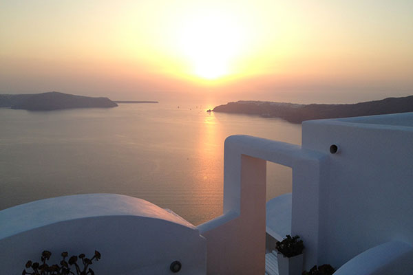 Our last night in Santorini, the most beautiful place in the world. Or at least one of them!