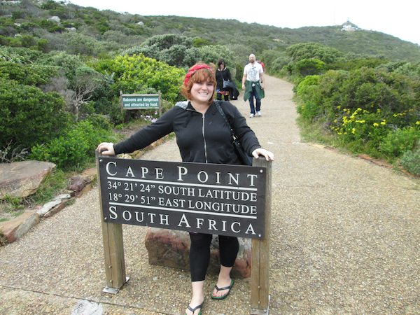 At the southern most tip of Africa – the Cape of Good Hope.