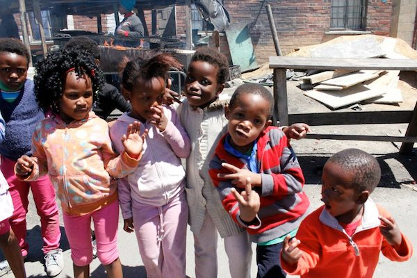 Posing for the camera in the Langa Township.