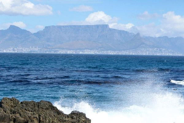 Views of Cape Town from Robben Island.