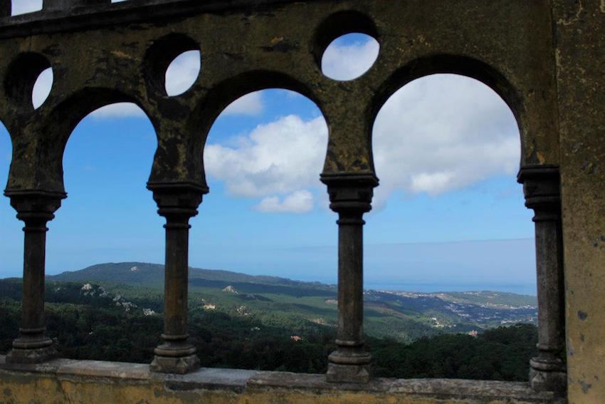 Palace view to the gorgeous countryside below.
