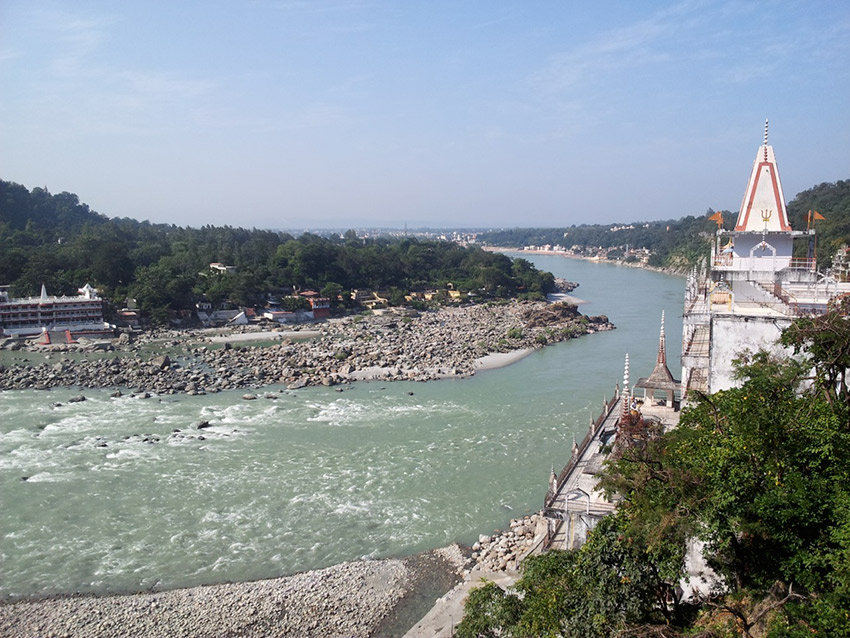 The multiple sources of the Ganges come together at Rishikesh. Photo courtesy Aleksandr Z.