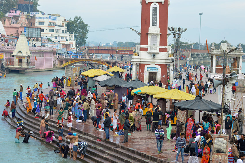 The sacred city of Haridwar attracts pilgrims all year round. Photo courtesy Abigail B.