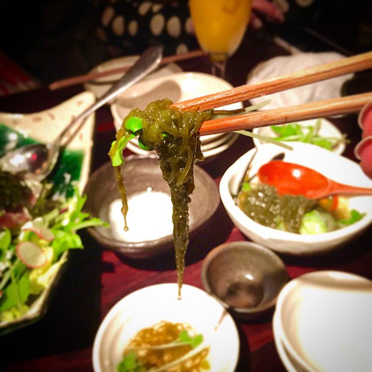 Mozuku seaweed.
