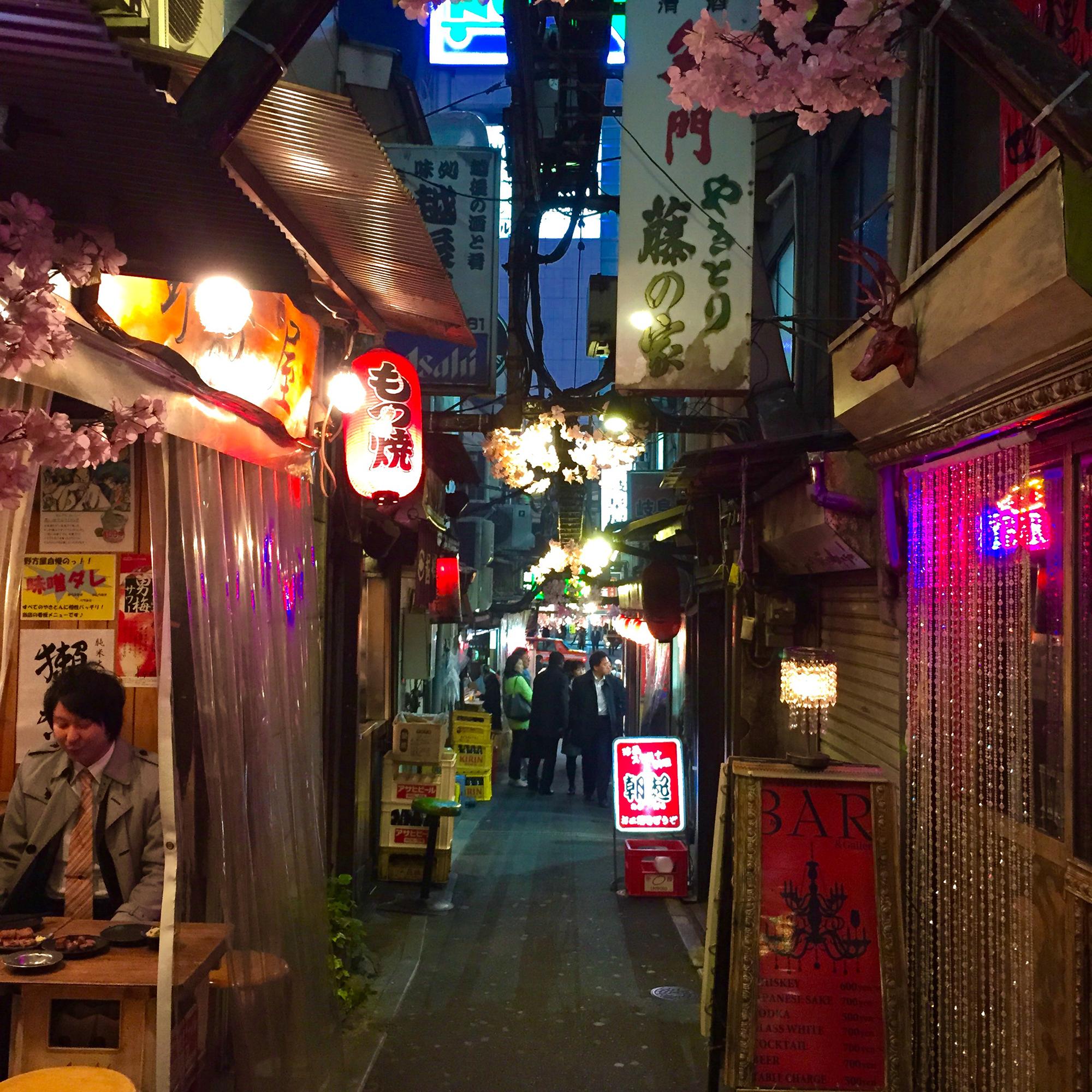 A quiet alley next to Shinjuku station.