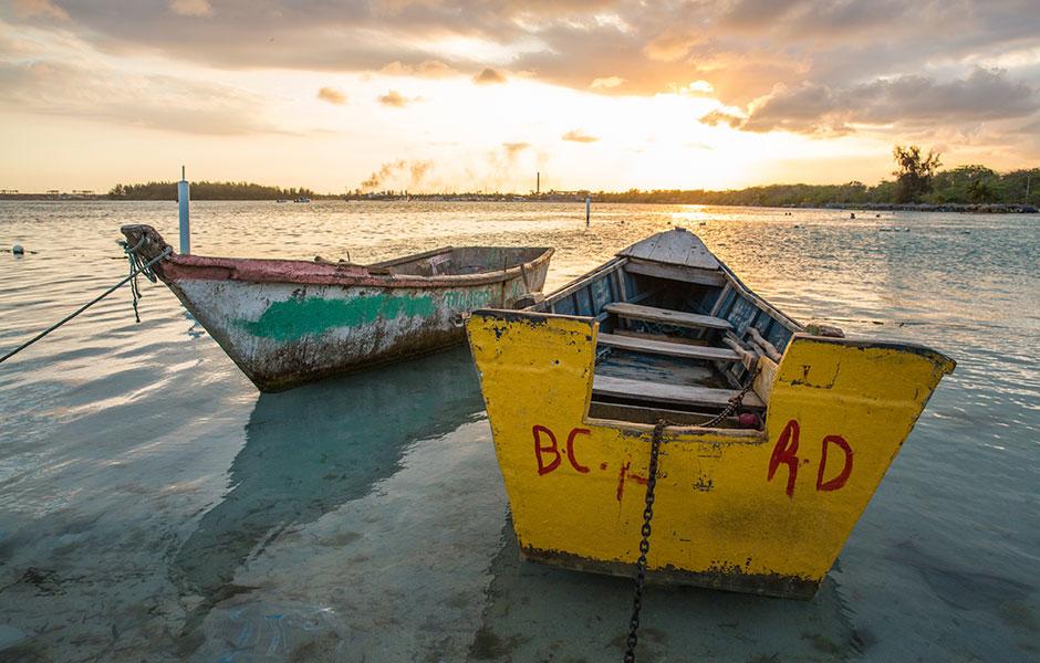 Boats near Santo Domingo, Dominican Republic.