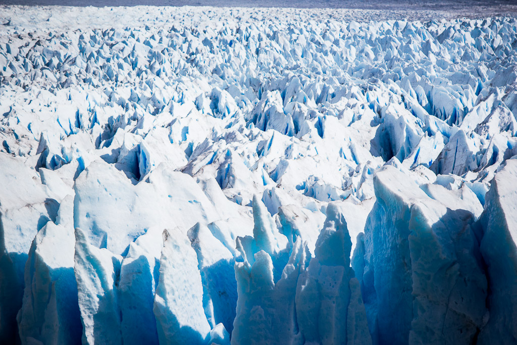 The glacier flows at about 2m – 6.5 ft – each day.