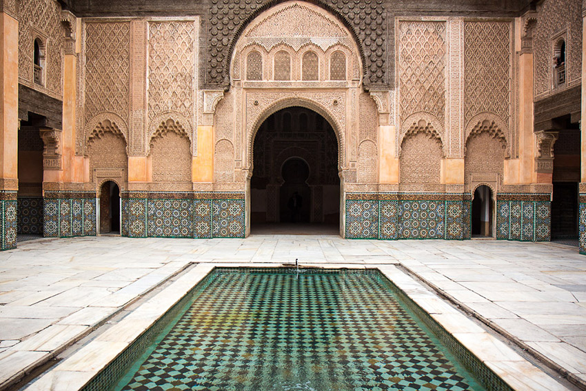 The Ben Youssef Madrasa in Marrakech.