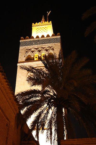 The minaret of Koutoubia Mosque