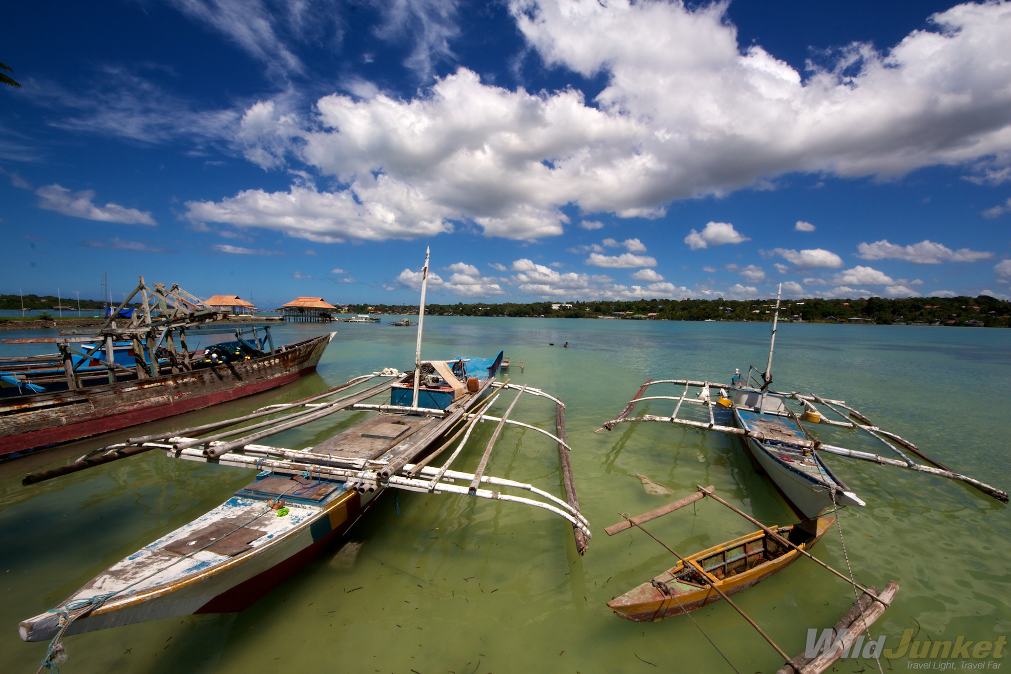 Fishing boats in Bohol.