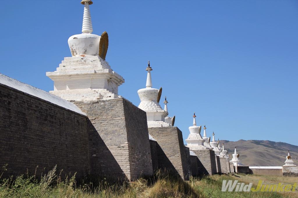 The stupas that surround Erdene Zuu Khiid.