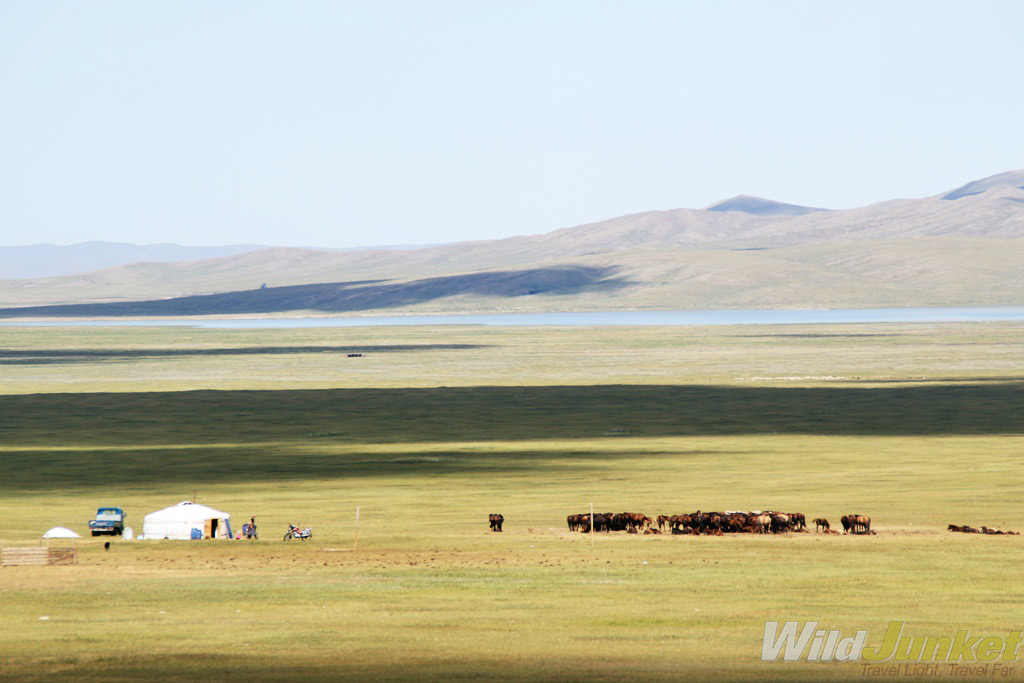 Nomadic family living on the northern grasslands.
