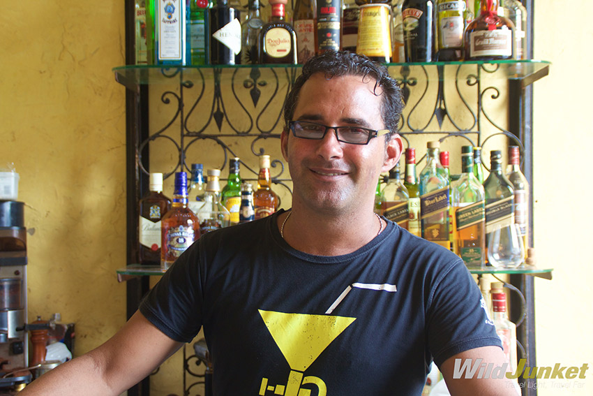 The barman at La Guarida was born and raised in the same building as the restaurant.