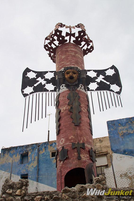 A Santeria Orisha statue.