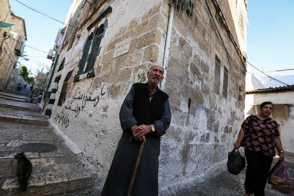 Muslim quarter in the Old City of Jerusalem.