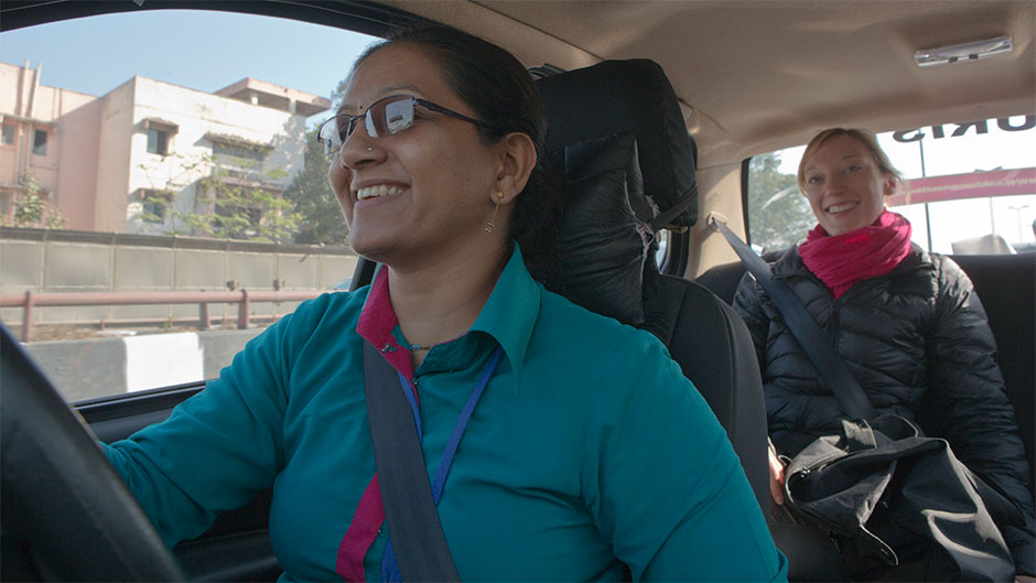 Shanti's job as a commercial chauffeur was made possible by Planeterra's Women on Wheels project, a collaboration between G Adventures and the Azad Foundation.