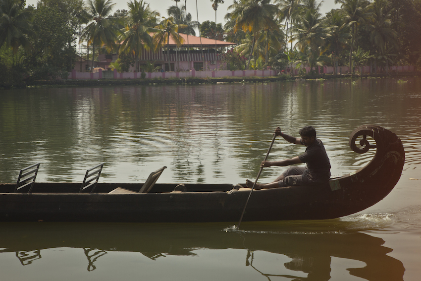 The Kerala Backwaters.