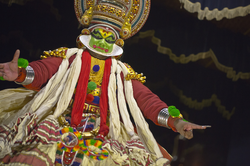 The classic Kathakali dance.