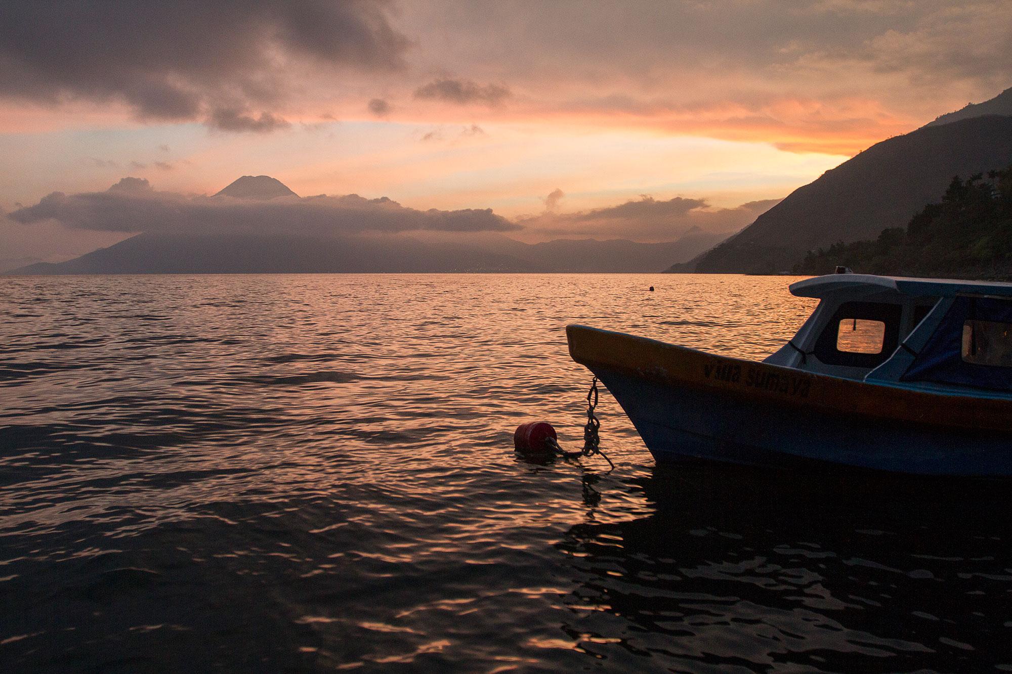 The shores of Lake Atitlán.