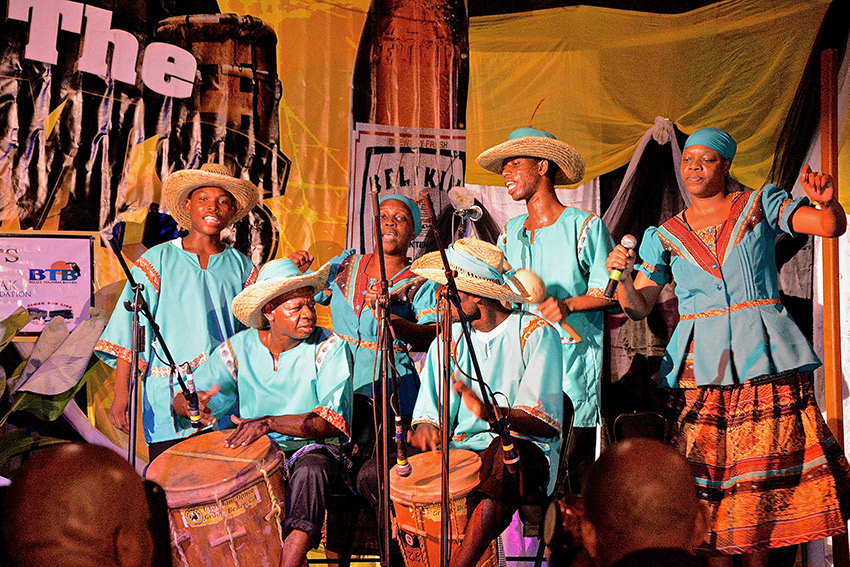 A Garifuna drumming competition. Photo courtesy Parm P.