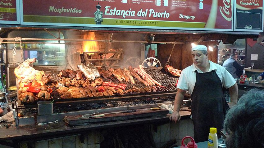 It won't take you long to find these amazing street eats in Montevideo. Photo courtesy John W.