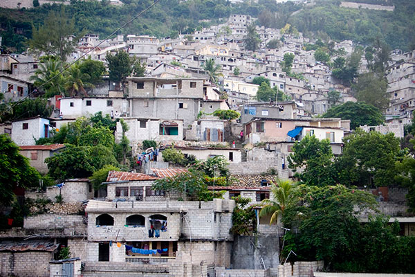 An expanse of favellas before the earthquake in Port-au-Prince, Haiti.
