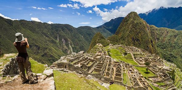 Taking Photos Of Machu Picchu, Peru