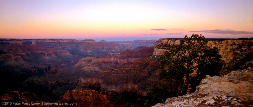 Golden hour at the Grand Canyon.