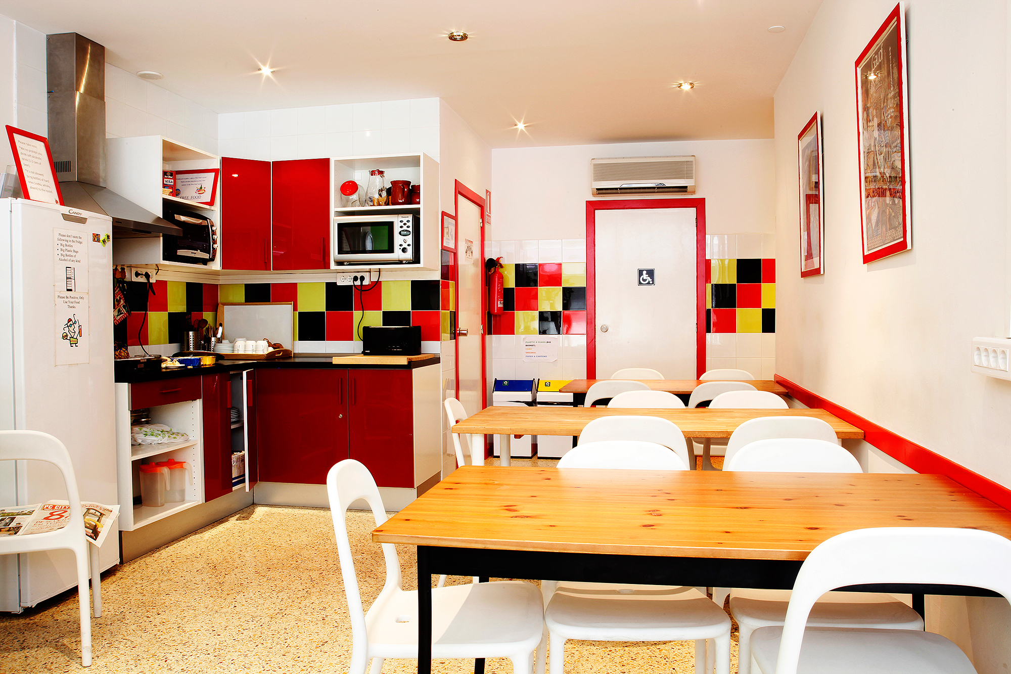 Let the kitchen at the hostel set the stage of your holiday meal. Photo courtesy O Barcelona.