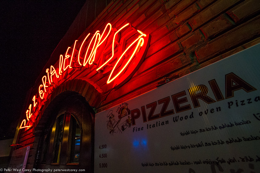 I started to notice there were neon signs all over Aqaba.
