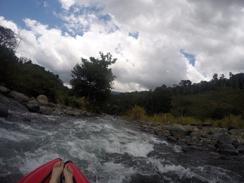 The view of the rapids before we got stuck.