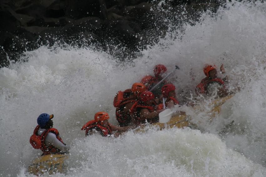 The Zambezi rapids are classified as Grade 5. Photo courtesy Steve O.