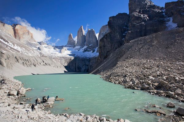 Mountain lagoon in Torres Del Paine National Park, Chile.