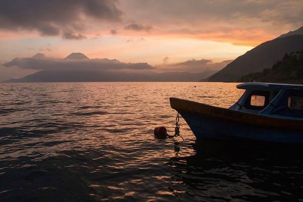 Guatemala in the gloaming: You can almost hear the waves lapping the shore of Lake Atitlán,