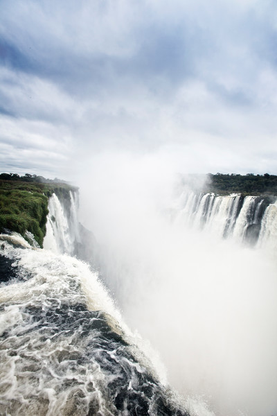 Mighty Iguassu Falls rumbles along the border of Argentina and Brazil