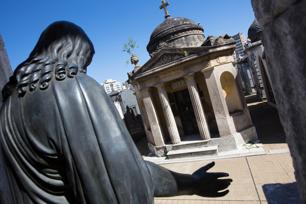 La Recoleta Cemetery, final resting place of the iconic Eva Perón.