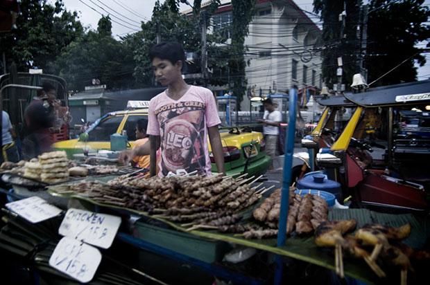 Thailand street market food