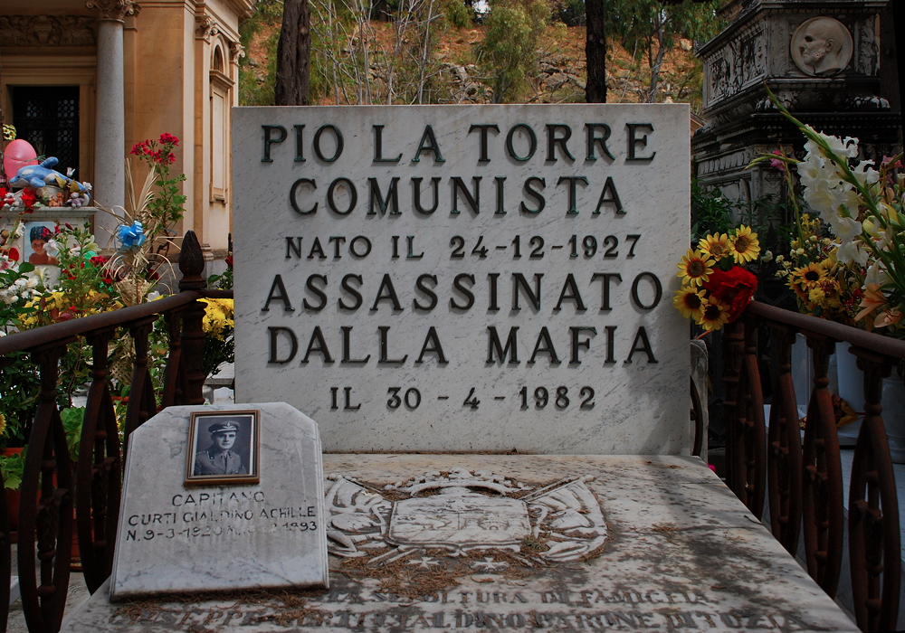 The tomb of Italian Communist Party leader Pio La Torre in Palermo.