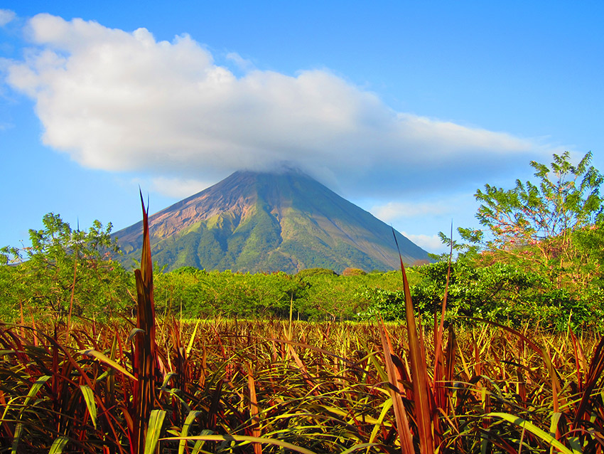 Ometepe is made up of two pre-Columbian volcanoes, Concepción and Maderas. Photo courtesy Shelley S.
